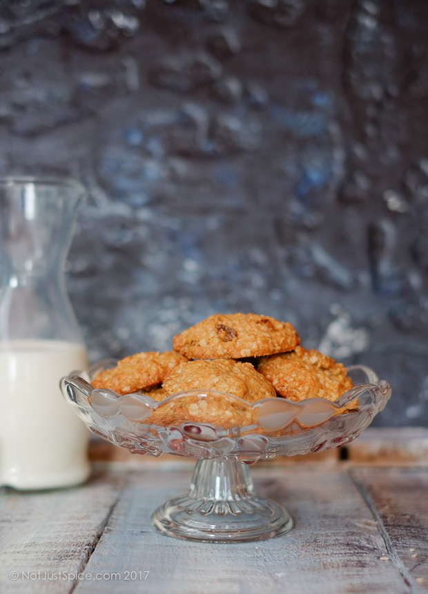Oatmeal Raisin Cookies | Rise and Shine Breakfast Cookies on notjustspice.com