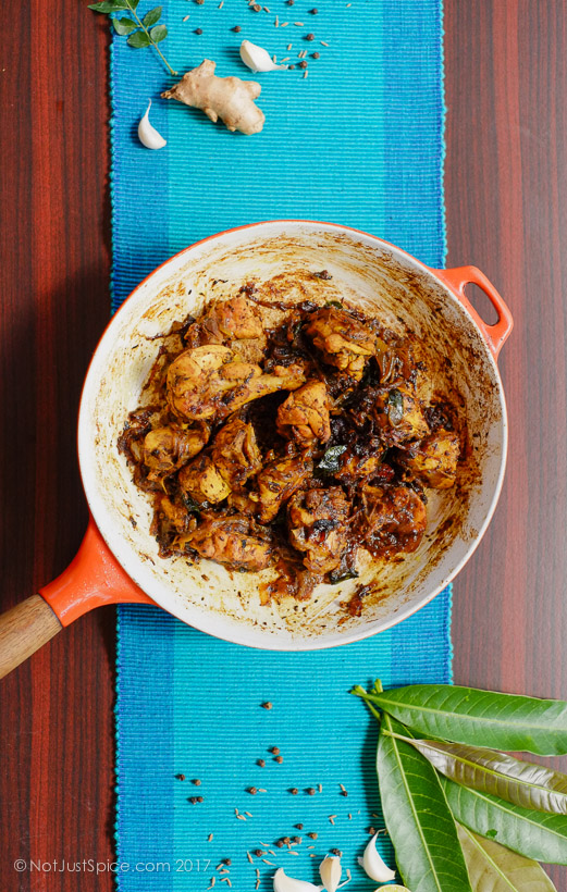 Chicken Pepper Fry | Pepper Chicken on notjustspice.com