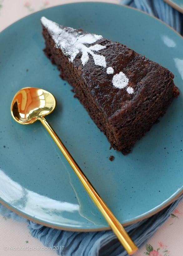 Epic Vegan Chocolate Cake | Chocolate Olive Oil Cake | 9-Ingredient Chocolate Cake on notjustspice.com