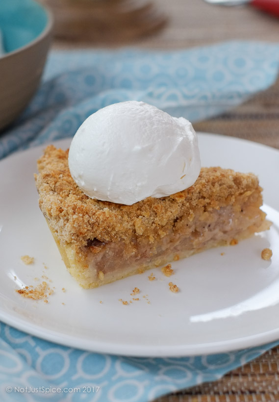 Dutch Asian Pear Pie on notjustspice.com