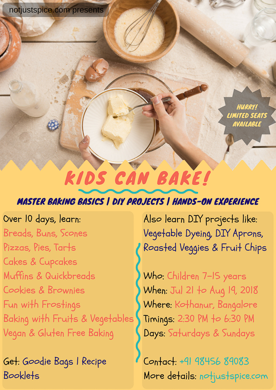 Kids Can Bake -- Baking Classes For Kids On notjustspice.com